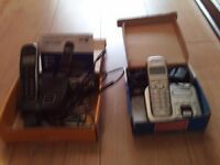 TWO HOME PHONES BT CONCERO 1400 BT STUDIO 4500