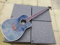 Aria AMB-50B/FL Fretless Bowl Back Electro Acoustic Bass Guitar Korea