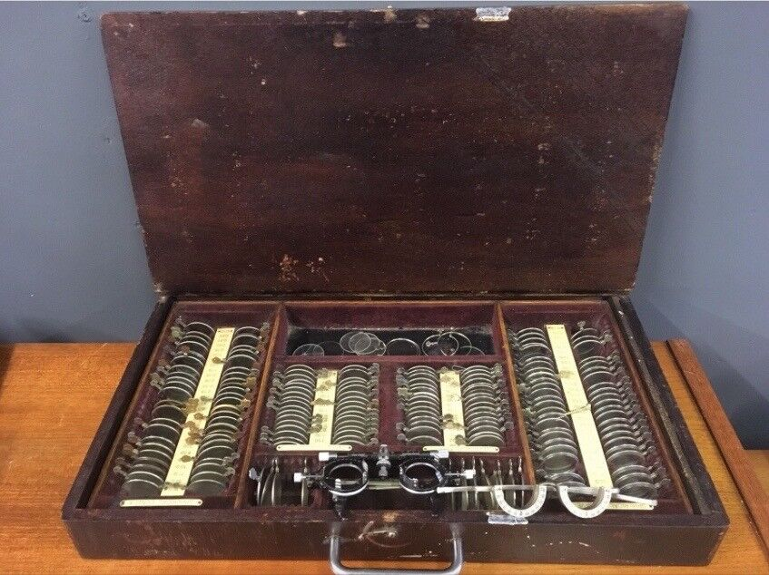 Antique Opticians Optical Trail Set American Optical Company & Lens Holders