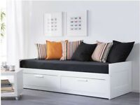 Near new IKEA Brimnes daybed with two drawers and two mattresses. Barely used, excellent condition