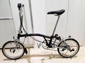 Brompton M6L Folding Bike 6 Speed Inductive Light Schwalbe Tyres