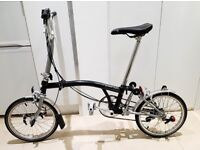 Brompton M6L Folding Bike 6 Speed Inductive Light Schwalbe Tyres