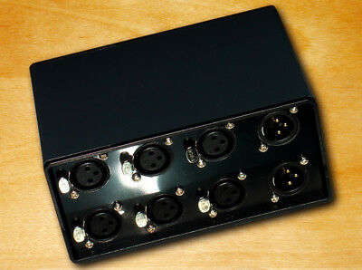 3-ways Audio Signal XLR Balanced Input Switcher Converter Splitter -