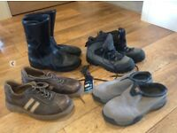 Mens shoes, walking boots, motor cycle boots & casual shoes