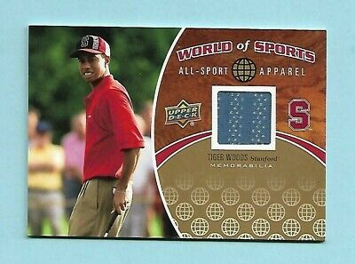 2010 Tiger Woods Upper Deck World of Sports SHIRT Card! MINT! -