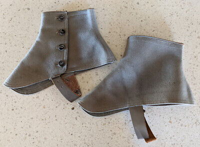 Spats, Gaiters, Puttees – Vintage Shoes Covers 1920's Men's Pair Of Gray Shoe Spats $19.00 AT vintagedancer.com