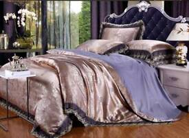 New silk and cotton Bedset