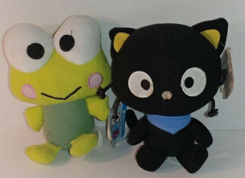 "Lot 2 Sanrio Chococat Plush Stuffed Doll & Keroppi Soft Toy  6.5"" RARE"