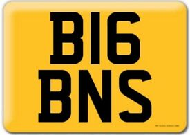 Personal Registration Plate BIG BENS (B16 BNS).