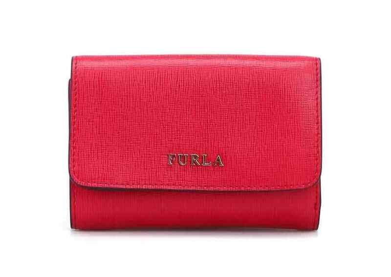 Furla Ladies Tri-fold Babylon Leather Wallet In Red 872819-PR76-B30-RUB