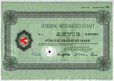 SCHERING AG Bayer Juni 1985 Berlin Bergkamen Weimar Merck 50 DM Kahlbaum Chemie