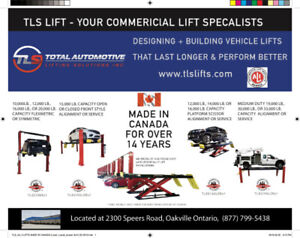 Commercial Car Lifts Canadian made - Open 6 days a week
