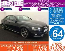 2013 AUDI A4 2.0 TDI BLACK EDITION GOOD / BAD CREDIT CAR FINANCE AVAILABLE