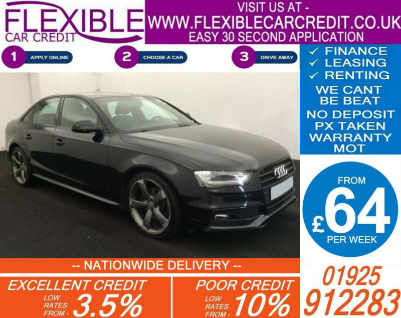 2013 AUDI A4 2.0 TDI BLACK EDITION GOOD / BAD CREDIT CAR FINANCE AVAILABLE