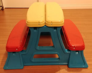 American Plastic Toys Toddler Picnic Bench ($20)