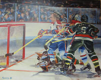 "TOILE HOCKEY - GUY LAFLEUR - 48"" X 60"" - GALERIE D'ART ELISA"