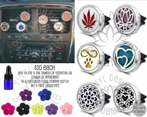 Aroma Therapy Essential Oil Car Vent Clips
