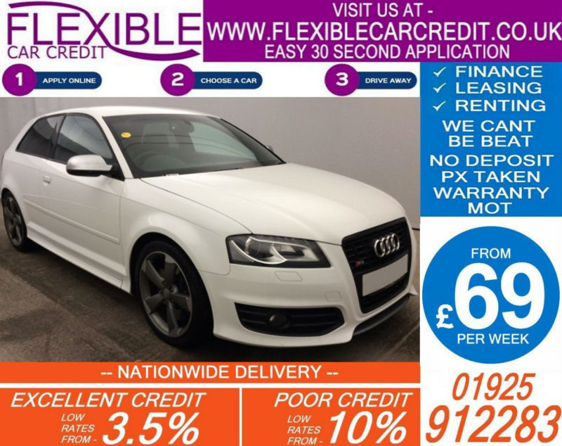 2011 AUDI S3 2.0 QUATTRO BLACK EDITION GOOD / BAD CREDIT CAR FINANCE AVAILABLE