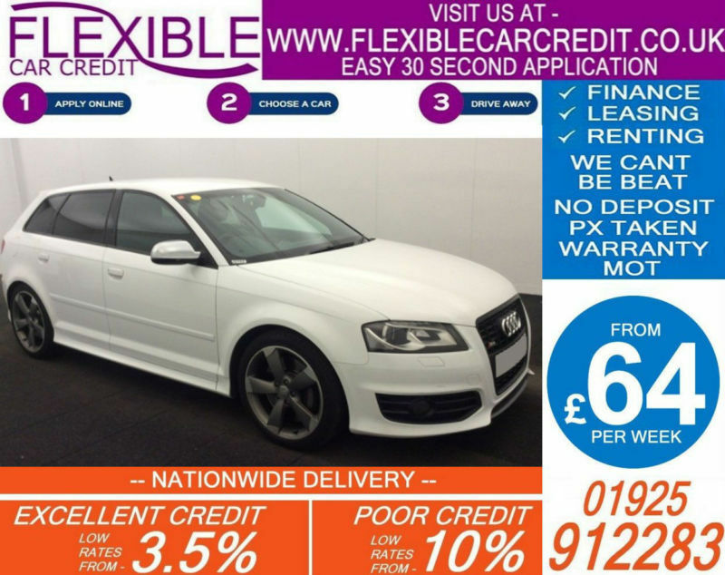 2010 AUDI S3 SPORTBACK 2.0 BLACK EDITION GOOD / BAD CREDIT CAR FINANCE AVAILABLE