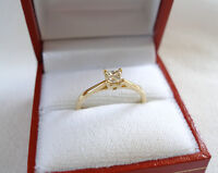 .35 Ct. Diamond Solitaire  14k Gold Ring