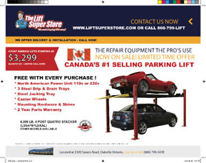 Canada #1 Selling Parking Lift Now on SALE!