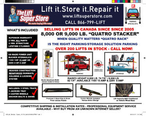 PARKING LIFT SALE - OVER 200 LIFTS IN STOCK