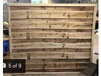 Straight top heavy duty pressure treated waneylap fence panels