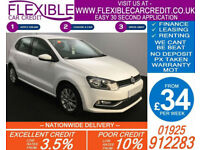 2014 VW POLO 1.4 TDI SE BMT GOOD / BAD CREDIT CAR FINANCE AVAILABLE