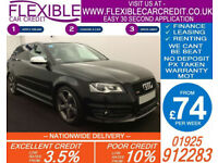 2012 AUDI S3 SPORTBACK 2.0 BLACK EDITION GOOD / BAD CREDIT CAR FINANCE AVAILABLE