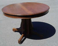 Solid oak antique dining room table
