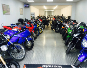 Motorcycle storage available