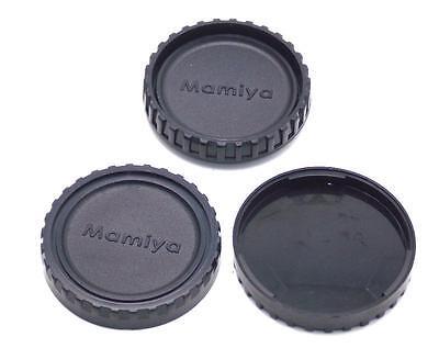 Three Cap Combo Includes 1 Camera Body Cap 2 Rear Lens Caps Mamiya M645 645 NEW