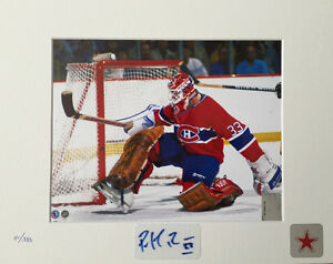 Patrick Roy autographed matting Montreal Canadiens 8x10 photo
