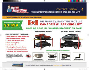 Car Parking and Storage Lifts - 8,000 & 9,000 lb. Capacity