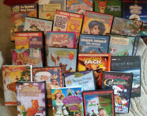 Wide assortment of children's & Adult VHS & DVD Movies for sale