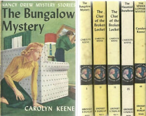 1960s - Five (5) Nancy Drew Books Hardcover Picture On Cover #s