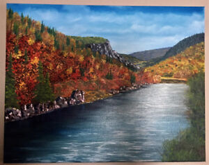Humber River Oil painting