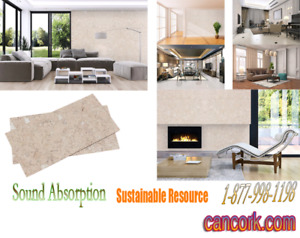 Cork Wall Tiles Against Noise, Sound Absorption $1.99 SQ/FT