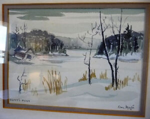 Two Beautiful Watercolor Farming Landscapes by Des Major 1985 Stratford Kitchener Area image 6