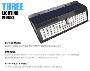 LED SOLAR LIGHTS WITH MOTION SENSOR
