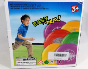 Plastic Frisbee Set for Outdoors Beach Backyard Pack of 12 Toys