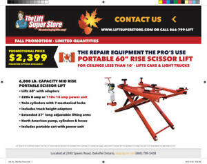 "Portable 60"" Rise 6,000 lb. Capacity Scissor Lift Promotion"
