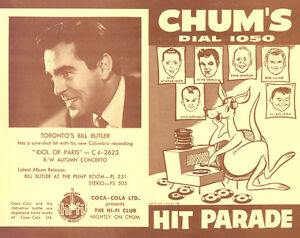 Buying CHUM HIT PARADE CHARTS from radio station 1050 CHUM Kitchener / Waterloo Kitchener Area image 2