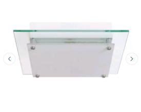 Argos square glass ceiling flush