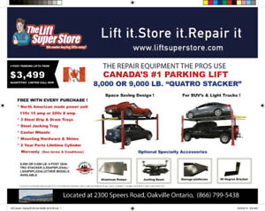 Car Parking and Storage Lifts - 8,000 & 9,000 lb. Capacity