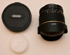 Bower 8mm f/3.5 Fisheye CS for Nikon AI-s version DX only