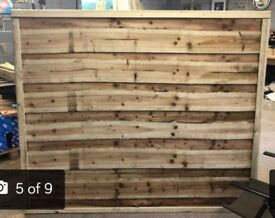 Straight top heavy duty waneylap tanalised fence panels