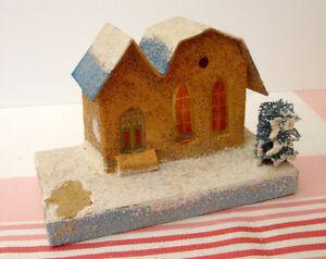 Ancienne maison de village de Noël mica putz #N135