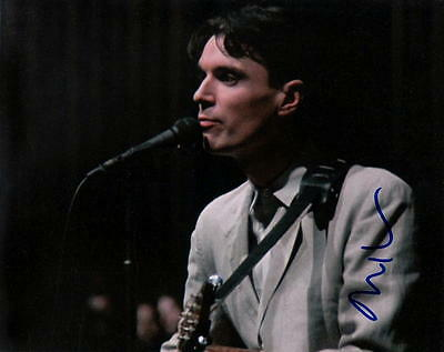 DAVID BYRNE.. Talking Heads - SIGNED