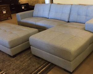 Fantastic Sectional Couch + Ottoman